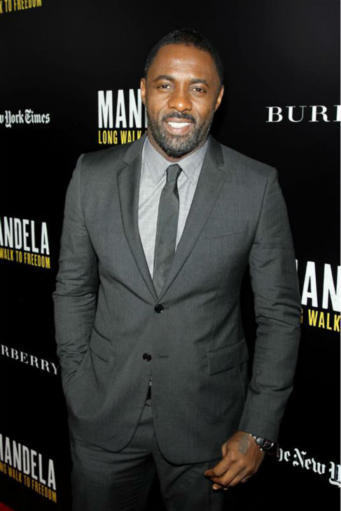 Idris Elba appears at a screening for &#39;Mandela: Long Walk To Freedom,&#39; hosted by U2 and Anna Wintour, at the Ziegfield Theatre in New York on Nov. 25, 2013. He plays the title role in the movie. <span class=meta>(Marion Curtis &#47; Startraksphoto.com)</span>