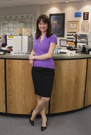 Ellie Kemper in a promotional still for 'The Office.'