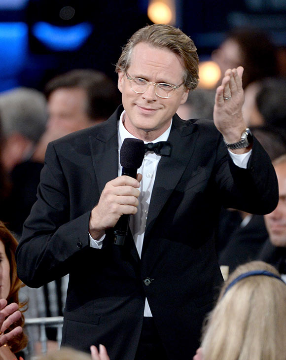 "<div class=""meta ""><span class=""caption-text "">Cary Elwes salutes honoree Mel Brooks during the American Film Institute's 41st Lifetime Achievement Award Gala at the Dolby Theatre in Los Angeles on Thursday, June 6, 2013 in Los Angeles. Elwes played Robin Hood in Brooks' 1993 comedy film 'Robin Hood: Men In Tights.' The actor is best known for his role as Westley in the 1987 movie 'The Princess Bride.' (Kevin Mazur / American Film Institute)</span></div>"