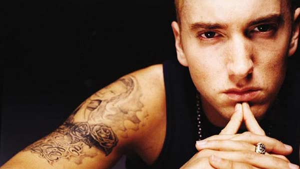 Eminem appears in an unddated photo from his official MySpace page.