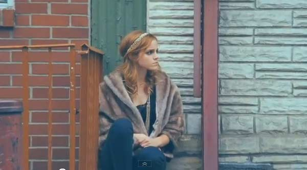 Emma Watson appears in a scene from the 2010 music video 'Say You Don't Want It.'