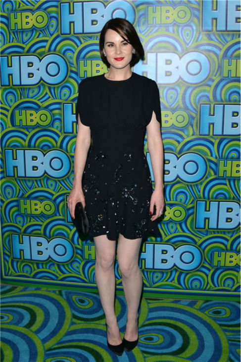 &#39;Downton Abbey&#39; star and Emmy nominee Michelle Dockery appears at an Emmy Awards 2013 post-show reception, hosted by HBO, in Los Angeles on Sept. 22, 2013. <span class=meta>(Tony DiMaio &#47; Startraksphoto.com)</span>