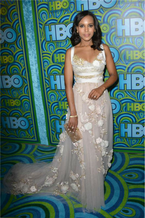 "<div class=""meta ""><span class=""caption-text "">Emmy nominee and 'Scandal' star Kerry Washington appears at an Emmy Awards 2013 post-show reception, hosted by HBO, in Los Angeles on Sept. 22, 2013. (Tony DiMaio / Startraksphoto.com)</span></div>"