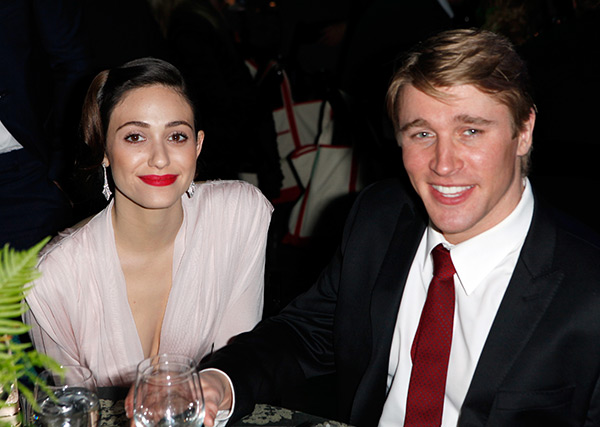 Emmy Rossum &#40;Fiona on Showtime&#39;s &#39;Shameless&#39;&#41; and boyfriend Tyler Jacob Moore &#40;police officer Tony on Showtime&#39;s &#39;Shameless&#39;&#41; attend Global Green USA&#39;s 10th annual Pre-Oscars Party at the Avalon club in Hollywood, California on Feb. 20, 2013. <span class=meta>(Todd Oren &#47; Getty Images for Global Green)</span>