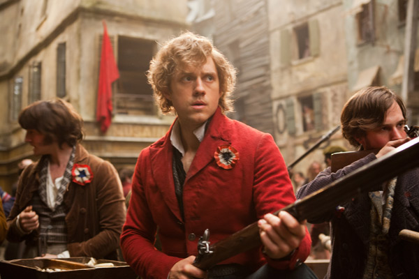Aaron Tveit appears as Enjoras in a scene from...
