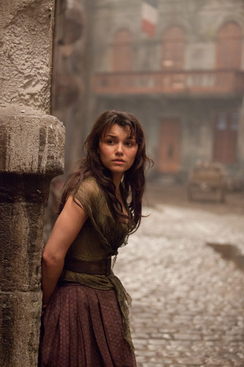 Samantha Barks appears as Eponine in a scene...