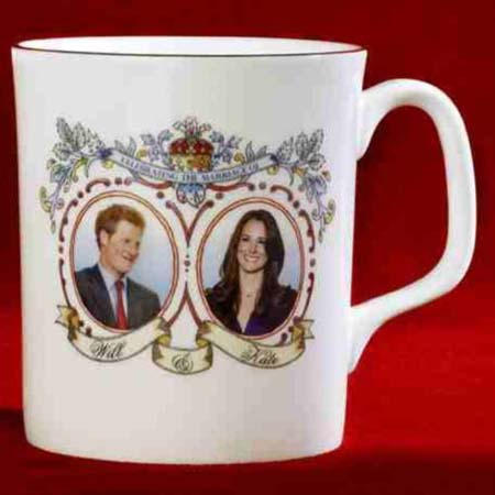 An 'error' mug featuring Kate Middleton and Prince William's brother Harry is going for $49.27 on eBay as of April 27, 2011.