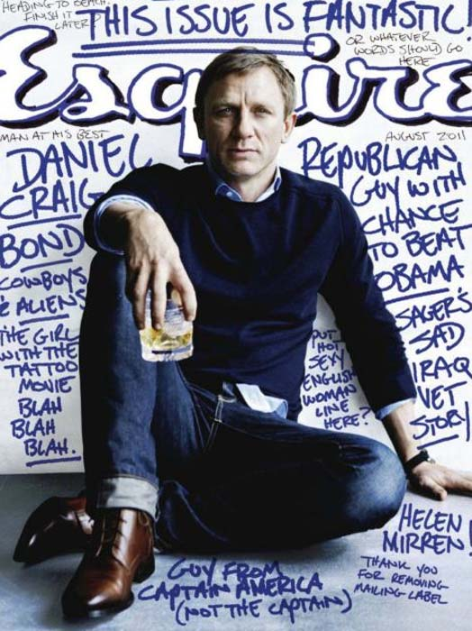 Pictured: Daniel Craig appears on the cover of Esquire magazine's August 2011 issue.