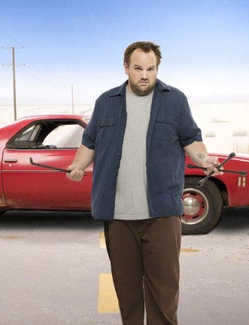 Ethan Suplee in a promotional still for the television series, 'My Name is Earl.'