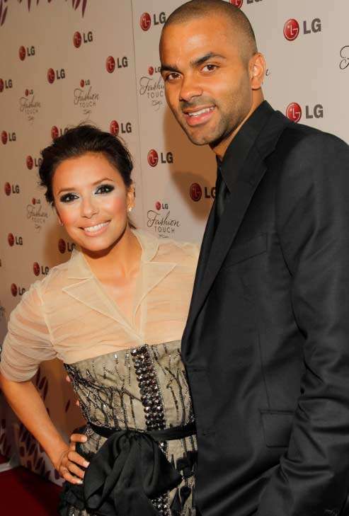Eva Longoria and ex-husband Tony Parker attend an LG Fashion Touch event on May 24, 2010.