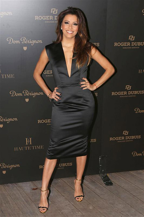 Eva Longoria appears at the Roger Dubuis Celebrates Art Basel Miami with Dom Perignon event, hosted by Gerard Butler, at the W South Beach in Miami Beach, Florida on Dec. 4, 2013. <span class=meta>(Seth Browarnik &#47; Startraksphoto.com)</span>