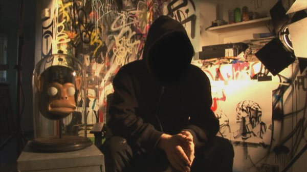&#39;Exit Through the Gift Shop&#39; is nominated for a 2011 BAFTA Award in the &#39;Outstanding Debut by a British Writer, Director or Producer&#39; category. &#40;Pictured: Banksy in a still from &#39;Exit Through the Gift Shop.&#39;&#41; <span class=meta>(Photo courtesy of Paranoid Pictures)</span>