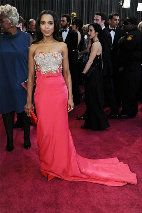 Kerry Washington walks the red carpet at the 2013 Oscars in Los Angeles on Feb. 24, 2013. <span class=meta>(Noel Crawford &#47; Startraksphotos.com)</span>