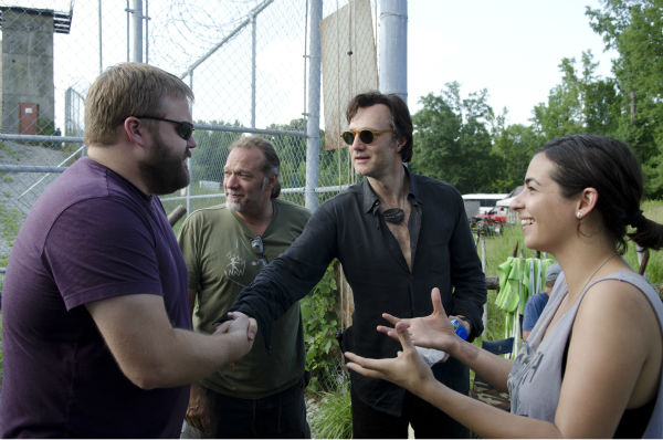 "<div class=""meta ""><span class=""caption-text "">'The Walking Dead' creator Robert Kirkman, co-executive producer / SFX makeup supervisor Greg Nicotero, David Morrissey (The Governor) and Alana Masterson (Tara) appear on the set of AMC's 'The Walking Dead's season 4 midseason finale, which aired on Dec. 1, 2013. (Gene Page / AMC)</span></div>"