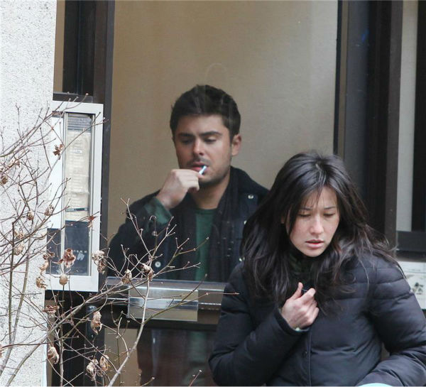 "<div class=""meta image-caption""><div class=""origin-logo origin-image ""><span></span></div><span class=""caption-text"">Zac Efron appears on the set of the R-rated film 'That Awkward Moment' (previously titled 'Are We Officially Dating?') in New York on Dec. 20, 2012. (Adam Nemser / Startraksphoto.com)</span></div>"