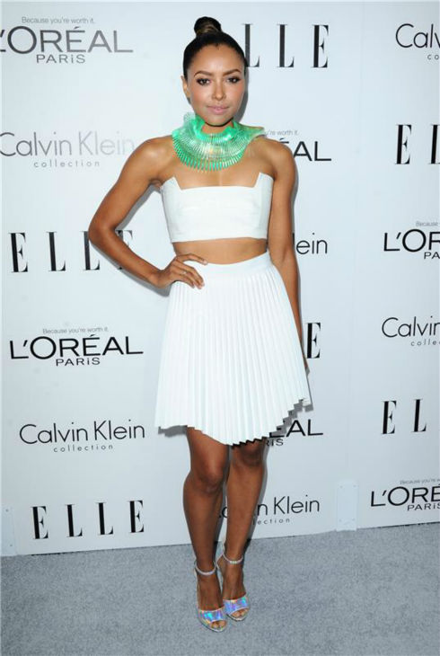 "<div class=""meta ""><span class=""caption-text "">Kat Graham of 'The Vampire Diaries' attends ELLE's 20th Annual Women In Hollywood gala in Beverly Hills, California on Oct. 21, 2013. (Sara De Boer / Startraksphoto.com)</span></div>"