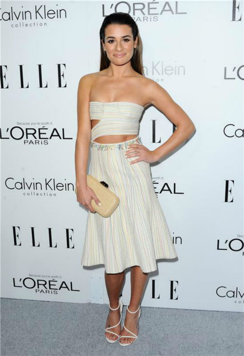 "<div class=""meta image-caption""><div class=""origin-logo origin-image ""><span></span></div><span class=""caption-text"">Lea Michele of 'Glee' attends ELLE's 20th Annual Women In Hollywood gala in Beverly Hills, California on Oct. 21, 2013. (Sara De Boer / Startraksphoto.com)</span></div>"
