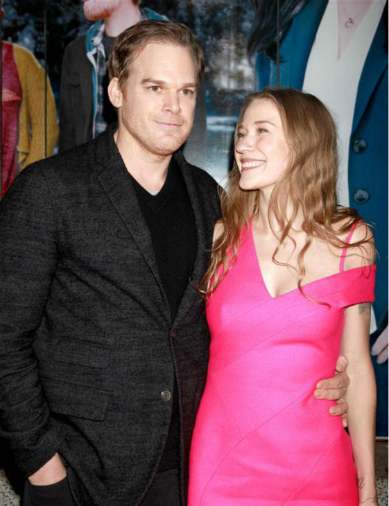 "<div class=""meta image-caption""><div class=""origin-logo origin-image ""><span></span></div><span class=""caption-text"">Michael C. Hall of 'Dexter' fame and girlfriend Morgan MacGregor attend the opening night of the new Broadway musical 'If/Then' at the Richard Rodgers Theatre in New York on March 30, 2014. (Adam Nemser / Startraksphoto.com)</span></div>"