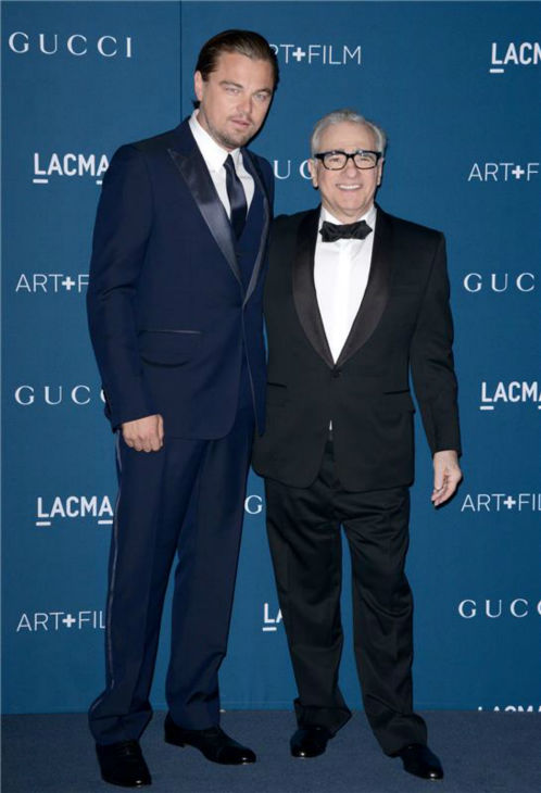 Leonardo DiCaprio and Martin Scorsese appear at the LACMA Art and Film Gala, honoring Scorsese And David Hockney, at the Los Angeles County Museum of Art on Nov. 2, 2013.