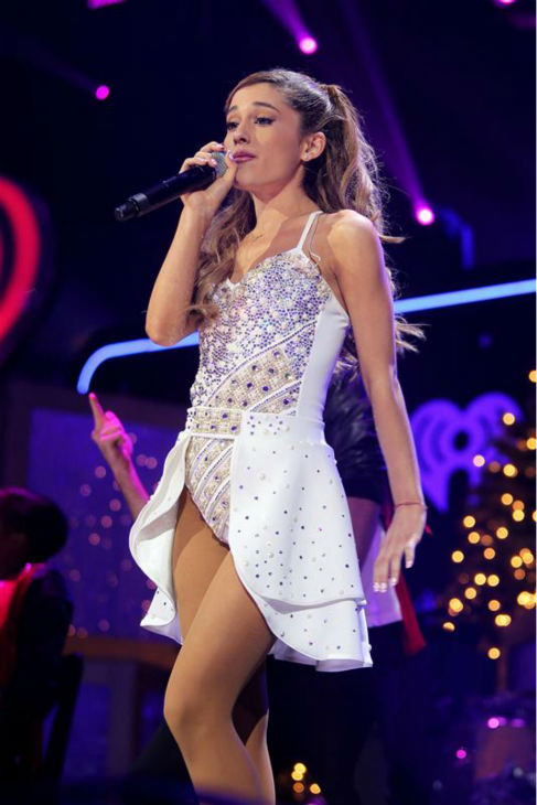 Ariana Grande performs on stage at the 2013 Z100 Jingle Ball on Dec. 13, 2013. <span class=meta>(Amanda Schwab &#47; Startraksphotos.com)</span>