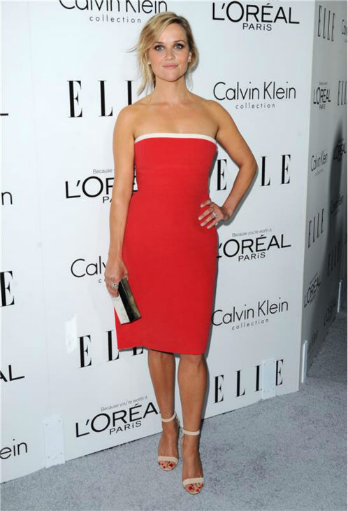 Reese Witherspoon attends ELLE's 20th Annual Women In Hollywood gala in Beverly Hills, California on Oct. 21, 2013.
