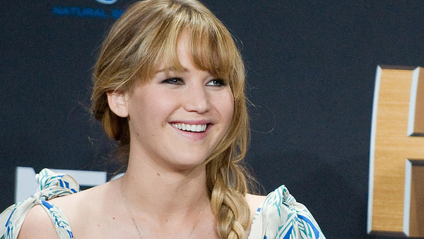 Jennifer Lawrence appears in a photo from a promotional event for 'The Hunger Games' in Century, City on March 3, 2012.