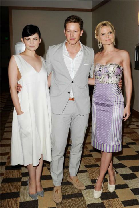 'Once Upon A Time' stars Ginnifer Goodwin and boyfriend Josh Dallas attend Comic-Con San Diego in San Diego, C