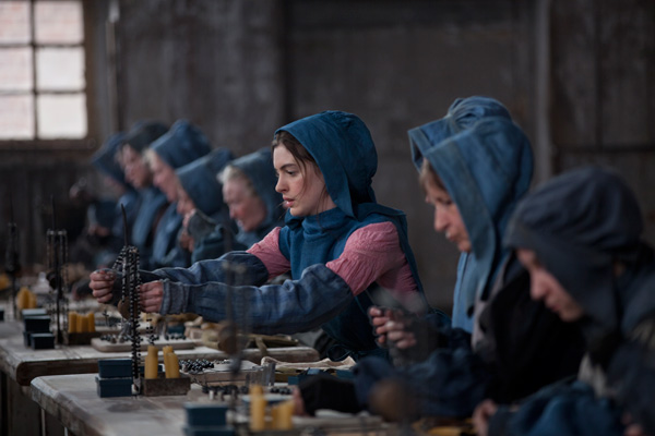 Anne Hathaway appears as Fantine in a scene from...