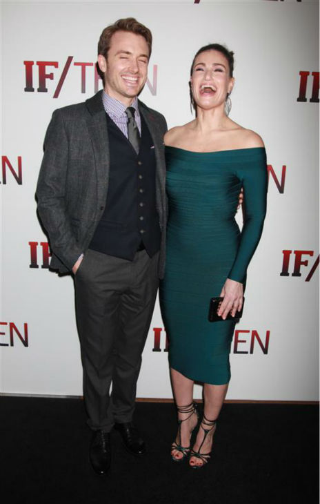 Idina Menzel and James Snyder attend the opening night of the new Broadway musical &#39;If&#47;Then&#39; at the Richard Rodgers Theatre in New York on March 30, 2014. The two are among the cast members. She is also known for her roles in the Broadway shows &#39;Rent&#39; &#40;as Maureen&#41; and &#39;Wicked&#39; &#40;as Elphaba&#41; and portrayed Elsa in the Disney movie &#39;Frozen,&#39; in which she sang the hit song &#39;Let It Go.&#39; <span class=meta>(Adam Nemser &#47; Startraksphoto.com)</span>