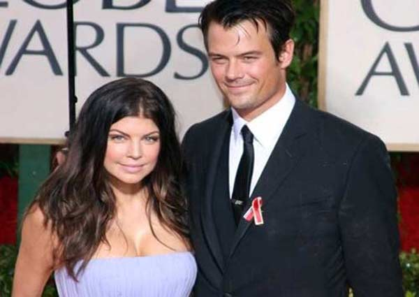 Fergie and husband Josh Duhamel attend the Golden Globe Awards on Jan. 17, 2010.