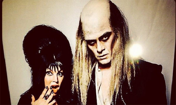 Fergie, dressed as Elvira, and husband Josh Duhamel, dressed as Riff Raff from &#39;The Rocky Horror Picture Show,&#39; appear in a photo posted on the actor&#39;s Instagram page on Oct. 27, 2013. <span class=meta>(instagram.com&#47;p&#47;f-xEYlItj8&#47; instagram.com&#47;joshduhamel)</span>