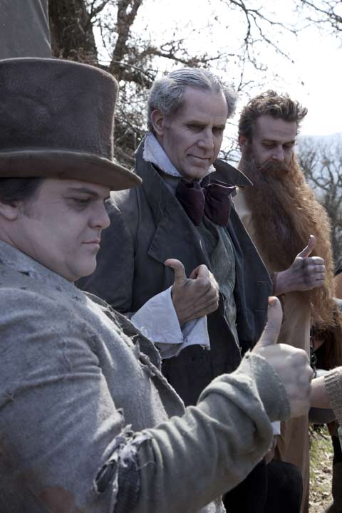 "<div class=""meta image-caption""><div class=""origin-logo origin-image ""><span></span></div><span class=""caption-text"">Will Ferrell, Jason Segel and Jack Black appear in a behind the scenes photo from their Disney Dream Portraits photo shoot with iconic photographer Annie Leibovitz. As the Hitchhiking Ghosts from Disney's landmark Haunted Mansion attraction, Jack Black, Will Ferrell and Jason Segel team up as the comically spooky trio seen by millions of Disney park guests as they make their way through the home of 999 'happy haunts.' The tagline reads, 'Where you can go on the ride of your afterlife.' (Disney Enterprises Inc. / Annie Leibovitz)</span></div>"