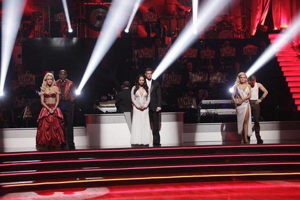 The bottom three contestants await possible elimination on 'Dancing With The Stars: The Results Show' on Tuesday, May 1, 2012.
