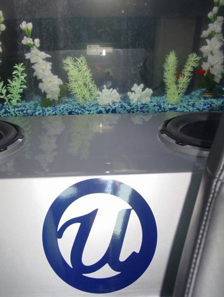 "<div class=""meta image-caption""><div class=""origin-logo origin-image ""><span></span></div><span class=""caption-text"">Usher's show car contains a fish tank by Acrylic Tank Manufacturing, as seen in this photo posted on the company's Facebook page. (facebook.com/acrylic.manufacturing)</span></div>"