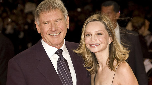 Calista Flockhart appears alongside her husband Harrison Ford in a photo from Deauville festival in 2009.