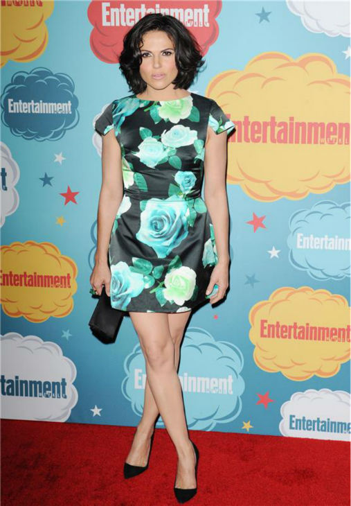 Lana Parilla, who plays Regina, the Evil Queen, on ABC's 'Once Upon A Time,' attends Entertainment Weekly magazine's party at San Diego Comic-Con in San Diego, California on July 20, 2013.