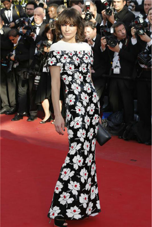 Milla Jovovich attends the red carpet premiere of 'Blood Ties' at the 66th annual Cannes Film Festival in Cannes, France on May 20, 2013.