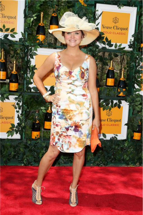 Tiffani Thiessen attends the sixth annual Veuve Clicquot Polo Classic at Liberty State Park in Jersey City, New Jersey on June 1, 2013.