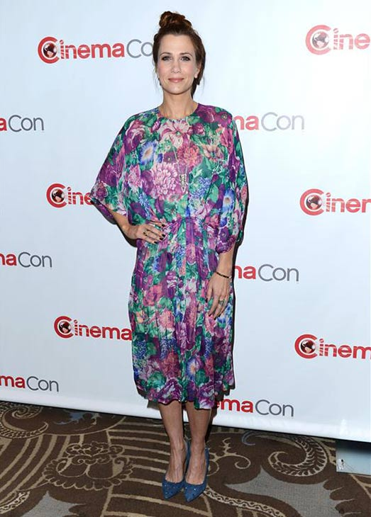 Kristen Wiig attends 2013 CinemaCon at the Caesars Palace Hotel and Casino in Las Vegas on April 18, 2013.
