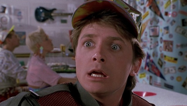 Michael J. Fox appears in a scene from the 1989 movie &#39;Back To The Future Part II.&#39; <span class=meta>(Universal Pictures)</span>