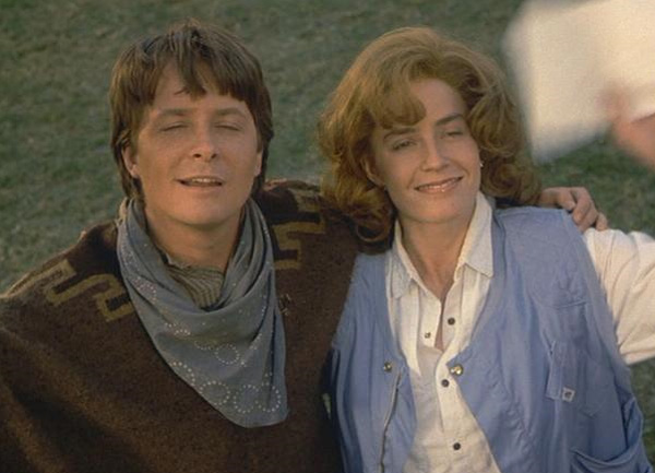 Michael J. Fox and Elisabeth Shue appear in a scene from the 1990 movie &#39;Back To The Future Part III.&#39; <span class=meta>(Universal Pictures)</span>
