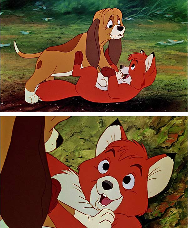 "<div class=""meta ""><span class=""caption-text "">'The Fox and the Hound' (1981) - This heartwarming Disney animated movie stars Mickey Rooney and Kurt Russell as Tod the fox and Copper the hound -- they become fast friends after meeting as pups but as they get older, that their friendship is challenged by social norms (i.e. hounds are supposed to hunt foxes). (Walt Disney Productions)</span></div>"