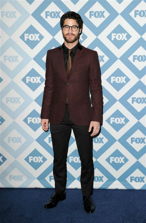 "<div class=""meta image-caption""><div class=""origin-logo origin-image ""><span></span></div><span class=""caption-text"">Darren Criss (who plays Blaine on the FOX series 'Glee') appears at the FOX Winter 2014 event's all-star party at the Langham Hotel in Pasadena, California on Monday, Jan. 13, 2014. (Daniel Robertson / Startraksphoto.com)</span></div>"