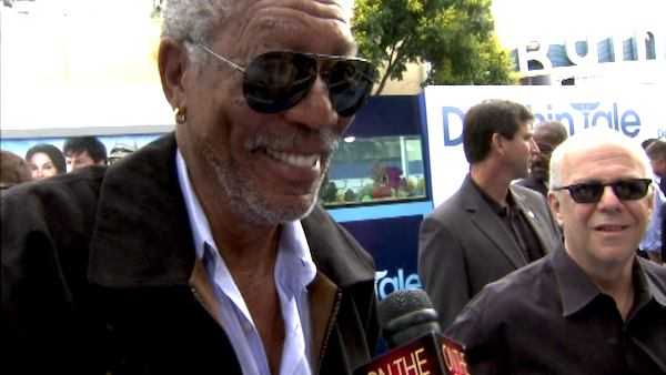 Morgan Freeman talks to OnTheRedCarpet.com at...