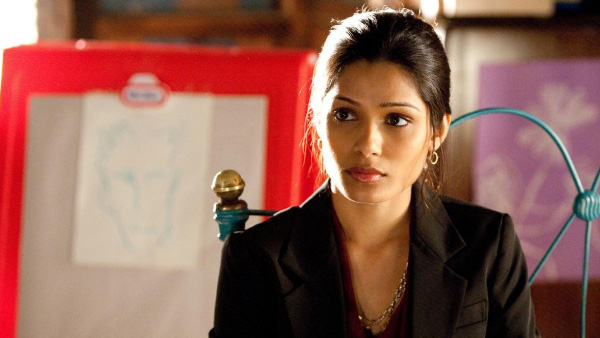 Frieda Pinto appears in a scene from the 2011 film 'Rise of the Planet of the Apes.'