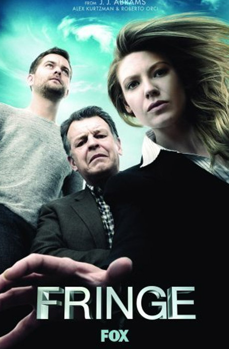 (PIctured: Still image of (from left) Joshua Jackson, John Noble, and Anna Torv from 'Fringe.')