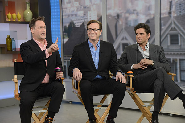 Dave Coulier, Bob Saget and John Stamos appear on ABC&#39;s &#39;GMA&#39; on Jan. 29, 2014 for a &#39;Full House&#39; reunion. They promoted an ad for the brand that stars the three of them and is set to air during the 2014 Super Bowl. <span class=meta>(ABC &#47; Ida Mae Astute)</span>