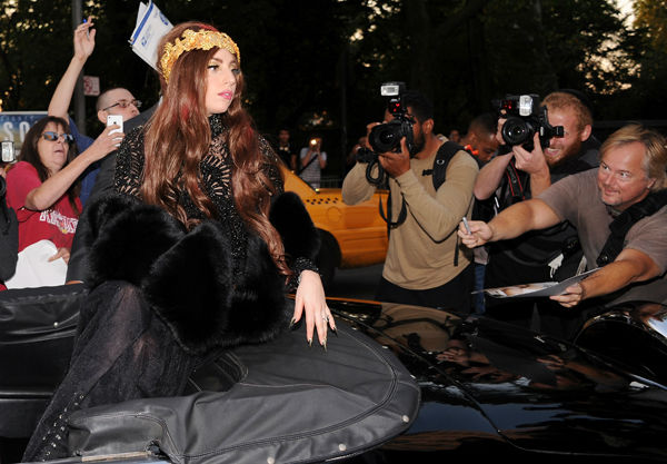 Singer Lady Gaga arrives at a 'Lady Gaga Fame'...