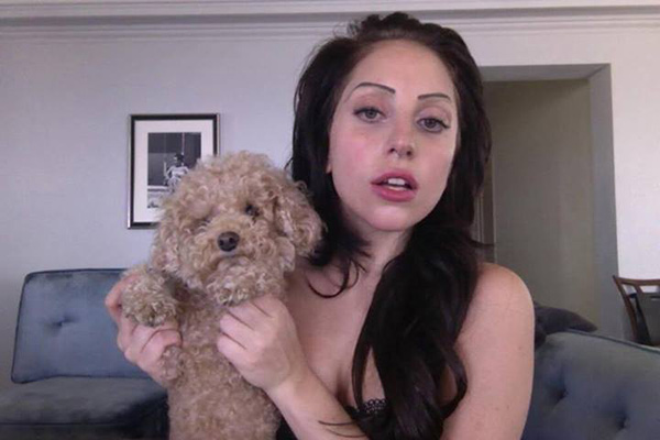 Lady Gaga poses with her dog, Fozzi, in a photo posted on her Facebook page on Aug. 11, 2013 to promote her new single, Applause. - Provided courtesy of facebook.com/ladygaga