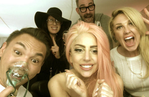 Lady Gaga posted this photo of herself celebrating with friends after Barack Obama was re-elected on Nov. 6, 2012.